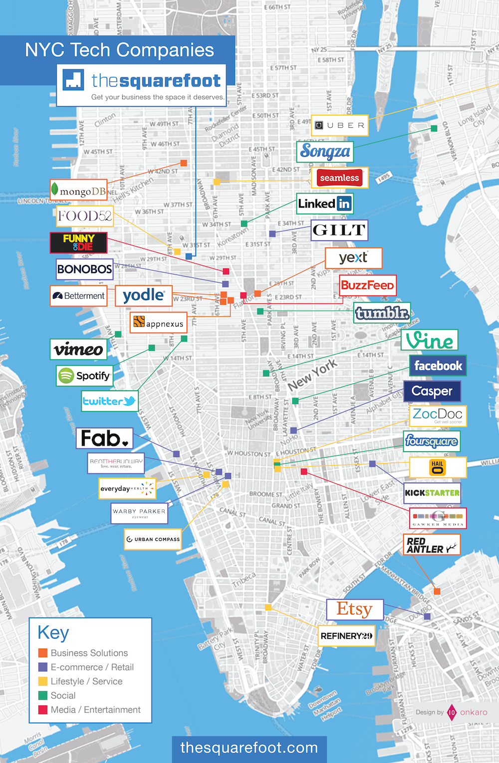 New York Citys Hottest Startup Neighborhoods On Grid Ventures - New york neighborhood map